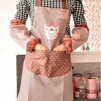 Celemek Masak Dapur Apron Karakter Beruang Anak Waterproof Full Set
