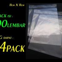Plastik Kemasan Makanan / Kue ( ada perekat ) OPP 11 X 11 Cm