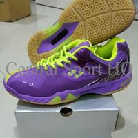 TERMURAH Sepatu Badminton Yonex SHB 02 Ltd (Limited) Purple Yellow