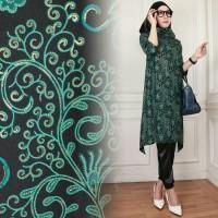 Hijab Set 3in1 Batik Velvet Arumi Tosca Gamis Wanita / Baju Muslim / H