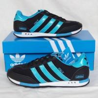 Sepatu Cewek Adidas Italy Run Woman Black Light Blue