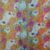kain sifon motif bunga baru lebar 1.50