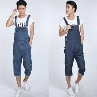 overall man baju kodok cowok jumper pria mens jeans panjang 7/8 long
