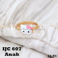 Cincin Emas Hello Kitty Cat Putih Gold Perhiasan Imitasi 18k