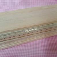 kayu balsa wood balsa sheet 10x60cmx2mm bahan maket arsitek miniature