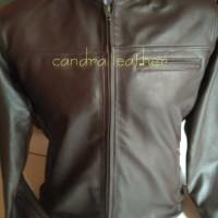 jaket kulit domba asli 100% warna coklat tua