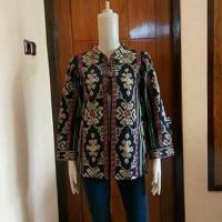 Baju Atasan Batik Balero Wanita Kerja Modern Kain Tenun Troso Asli
