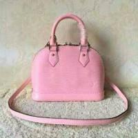 LV alma epi leather baby pink mini 25cm. high quality. .ori leather