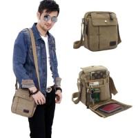 Tas Selempang Slempang Kanvas Canvas Pria Cowok Import / Shoulder Bag