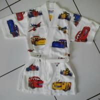 Baju Renang Kimono Handuk Renang Anak Cars