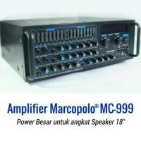 Amplifier Marcopolo mc-999 bisa untuk Speaker 12/15/18 inch