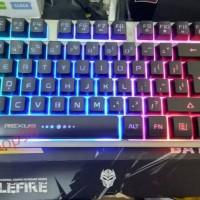 Keyboard Gaming Rexus K9TKL/K9-TKL Backlit Fortress Battlefire