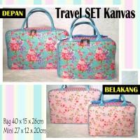 Tas Travel Bag Set Kanvas Shabby Chic