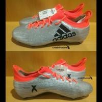 Sepatu Bola Adidas X 16.3 FG - Silver | Eksklusif Soccer Cleats