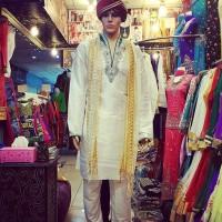 Baju India Cowok Kurta Laki Pria Import Sherwani 074