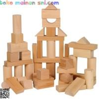 Mainan Kayu Edukatif Balok Umum 1000 (Tebal 3,5cm) Edukasi Anak 3-4 Th