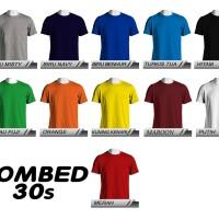 Kaos Polos T-shirt Dewasa O-Neck Lengan Pendek 30s