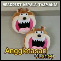 HEADREST/BANTAL SANDARAN KEPALA TAZMANIA AKSESORIS MOBIK