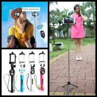 Tongsis 3 In 1 Monopod   Bluetooth Shutter And Build In Tripod WXY