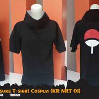 Kaos Anime Naruto Uchiha Sasuke Cosplay T-shirt (KR NRT 01)
