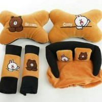 bantal 3 in 1 brown cony
