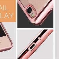 Promo!! Noblecase Electroplated Xiaomi Redmi 3X 3 X Soft Back Case TPU