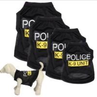 Baju kaos anjing kucing k9 police polisi rompi kostum pet peliharaaan