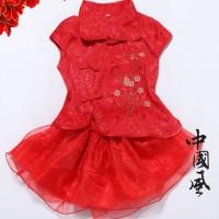 Baju Cheongsam dres Imlek China Merah Gaun Shincia anak bayi perempuan