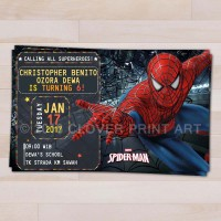 Kartu Undangan Ulang Tahun Anak Spiderman
