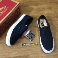 Sepatu Vans Authentic Mono Vintage Navy Dope DT Premium Biru Dongker