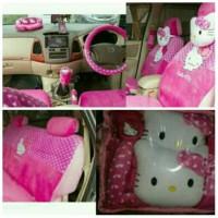 Sarung Jok Mobil AGYA / AYLA Motif HELLO KITTY PINK