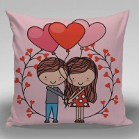 Bantal Valentine Dekorasi Sofa / Mobil - Stand With Balon Tree