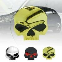 Import emblem skull besar tengkorak metal aksesoris mobil motor laptop
