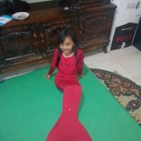 kostum anak mermaid / baju renang putri duyung mermeid tangan panjang