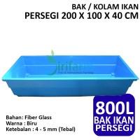Bak / Kolam Ikan Persegi 200 X 100 X 40 CM Fiber Tebal Berkualitas