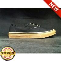 (NEW) Sepatu Vans Authentic Pria Hitam Sol Coklat Import Berkualitas
