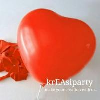 Balon Love Merah/Balon Latex Love/Balon Valentine/Balon Bentuk Hati