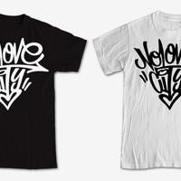 Tshirt / Kaos / Baju No love city grafiti / Best Quality