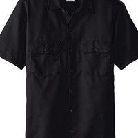 DICKIES - SHORT SLEEVE TWILL Work Shirt Black ( Medium )