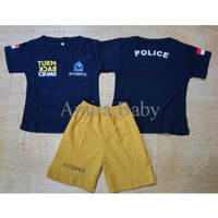 TERBATAS Polisi Turn Back Crime - Setelan Kaos Baju Anak Bayi TERMU