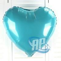 balon foil hati biru muda / balon foil love / balon love / balon hati