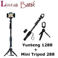 Paket Lengkap ! Tongsis Yunteng 1288 Remote Bluetooth FREE Mini Tripod