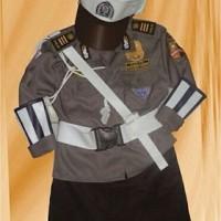 baju seragam setelan polisi polwan anak