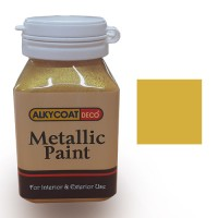 Alkycoat Deco Metallic Paint Cat Dekoratif Metalik 100g - G870 ( Gold)
