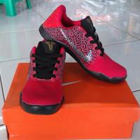 Promo Sepatu Basket Pria Nike kobe 11 mentality merah ringan anti lici
