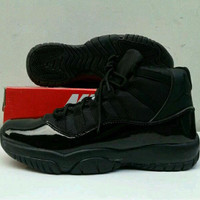 New Sepatu Basket Pria Nike air jordan jump hitam full ringan anti lic