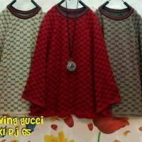 atasan batwing/kelelawar motif gucci (blouse/baju wanita)