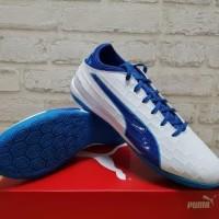 Sepatu Futsal Puma evoTouch 3 IT White Blue 103752-02 Original