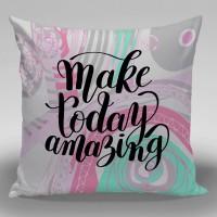 Bantal Dekorasi Sofa / Mobil Alphabet - Make Today Amazing
