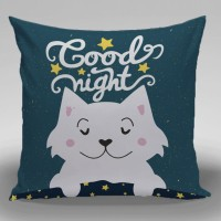 Bantal Dekorasi Sofa / Mobil Alphabet - Good Night - 30x30